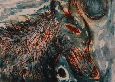 Wolf II, Drypoint and Collograph, 2011sm