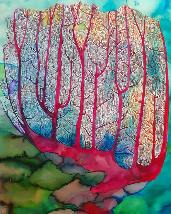 coral watercolour hannah parker